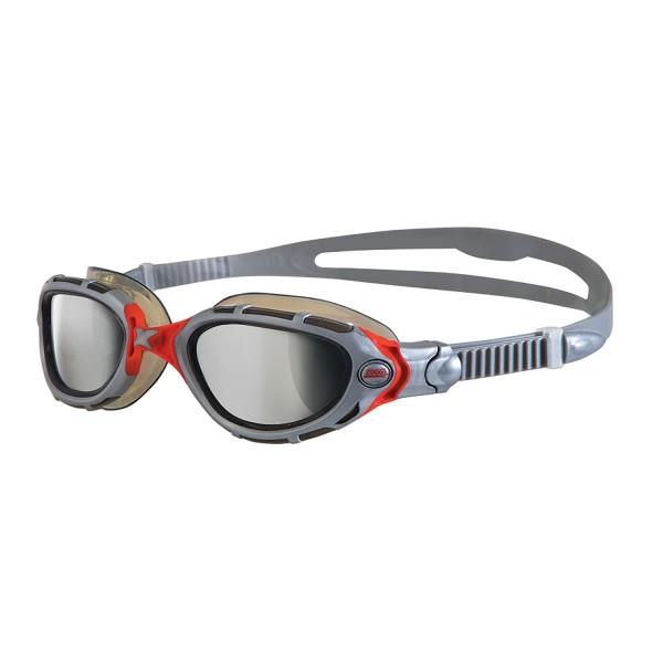 Zoggs Predator Flex Mirror Original Silver Red Smoke